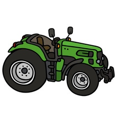 Green open tractor vector