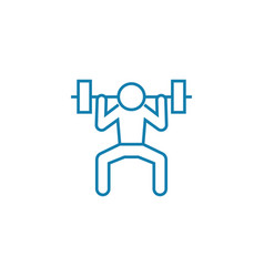 gym exercises linear icon concept gym exercises vector image
