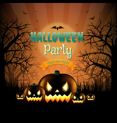 Hallooween party card vector