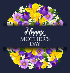 Happy mother day holiday greeting card vector