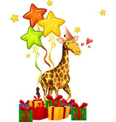 happy party giraffe concept vector image
