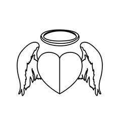 holy heart love vector image