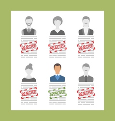 Human resource and resume flat simple icons vector