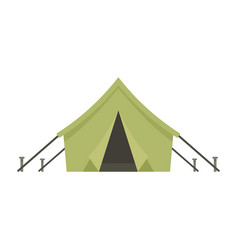 Hunter tent icon flat style vector