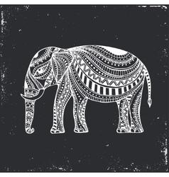 Indian hand drawn elephant arabic and jewish vector