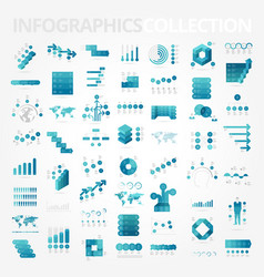 infographics design elements collection vector image