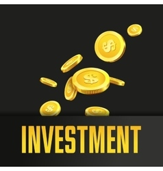 Investment poster or banner design template with vector image