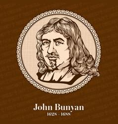 john bunyan was an english writer vector image