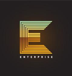 Letter E logo template vector image