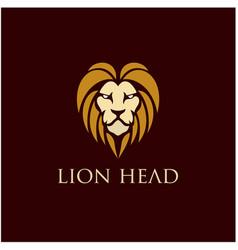 lion head logo design inspiration vector image