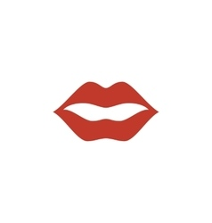 Lips Icon logo on white background vector image