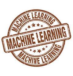 machine learning brown grunge stamp vector image