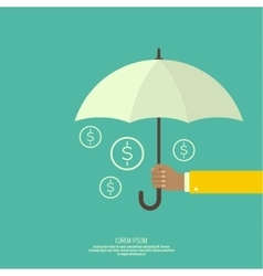 Male hand holding an umbrella vector image
