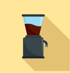 Modern coffee grinder icon flat style vector