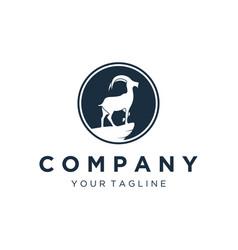 Mountain goat logo designs vector