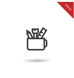 office utensils icon vector image