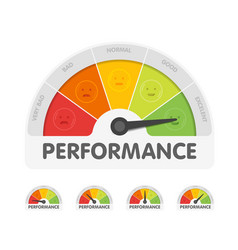 Performance meter with different emotions vector