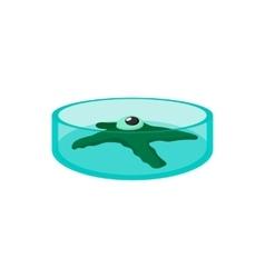 Petri dish with bacteria cartoon icon vector