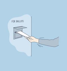 politics election usa voting concept vector image