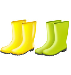 rainboots set vector image