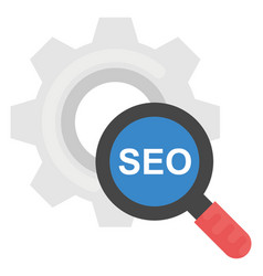 Search engine optimization flat icon vector