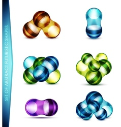 set of abstract bubble shapes vector image
