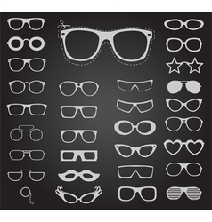 set sunglasses and glasses vector image