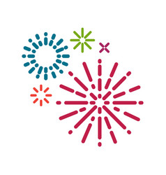 Simple firework background vector