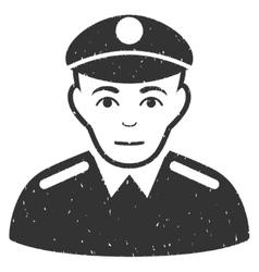 Soldier grainy texture icon vector