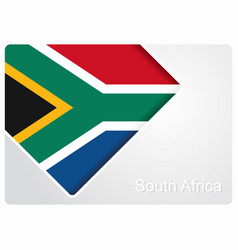 South african flag design background vector
