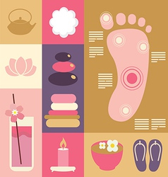 Spa and beauty acupuncture vector