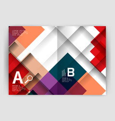 Square design corporate business flyer vector