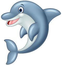 Standing Dolphin vector