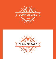 summer sale banner label or tag design vector image