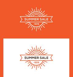 Summer sale banner label or tag design vector