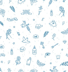 Tattoos doodle seamless pattern vector
