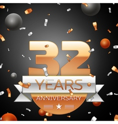 Thirty two years anniversary celebration vector