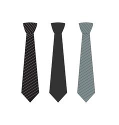 Tie Icon Symbol Set vector image