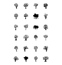 Trees Icons 5 vector image