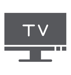 tv glyph icon screen and display television sign vector image