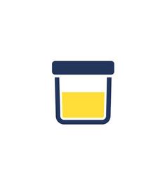 Urine test sample icon vector