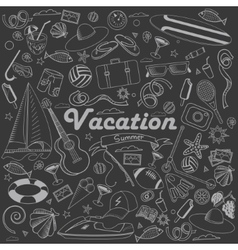 Vacation line art design vector