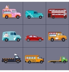 various urban and city cars vehicles vector image