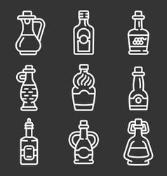 vinegar icon set outline style vector image