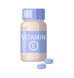 Vitamin cartoon icon vector