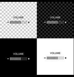 volume adjustment icon isolated on black white vector image