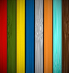Wooden fence painted in different colors vector image