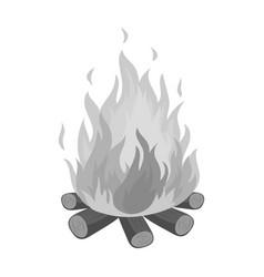 bonfiretent single icon in monochrome style vector image