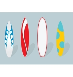 flat Set of surfboards vector image