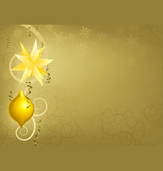 gold christmas ornament background vector image